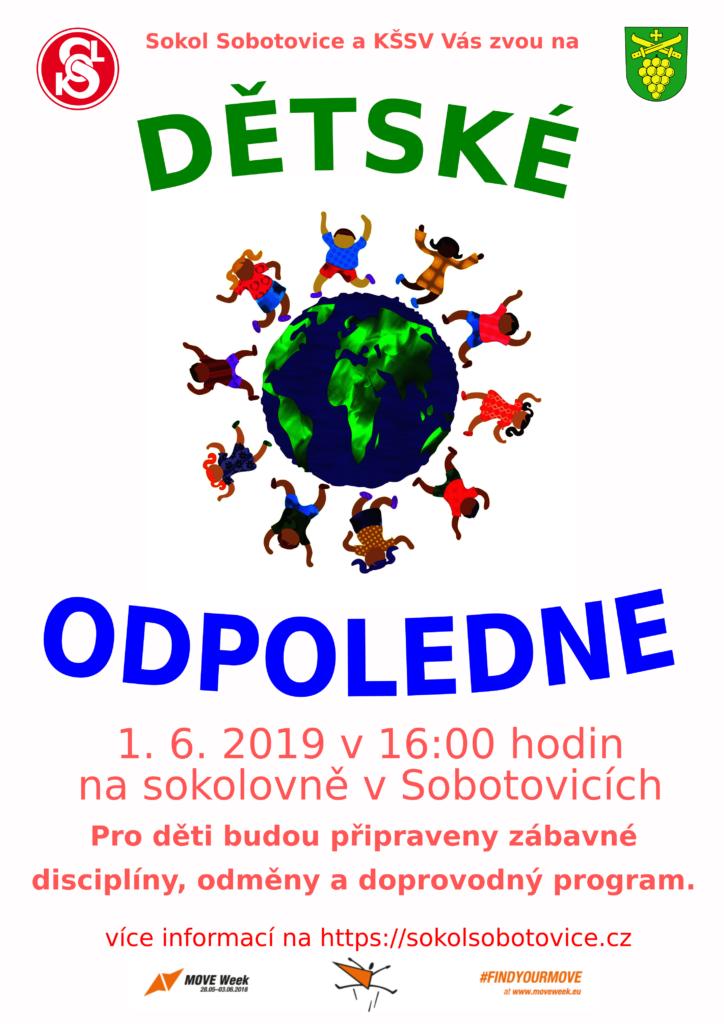 plakát zve na dětskéí odpoledne v roce 2019